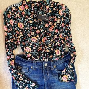 New Cotton On Loose Fit Floral Button Up, medium